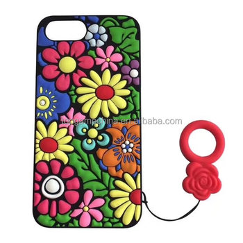 Colorful Sunflower Silicone Phone Case For iphone 6 Plus case 8 7 78plus 6 6S Soft Back Cover Shell