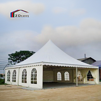 Durable business conference event octagonal canopy party tent glass wall