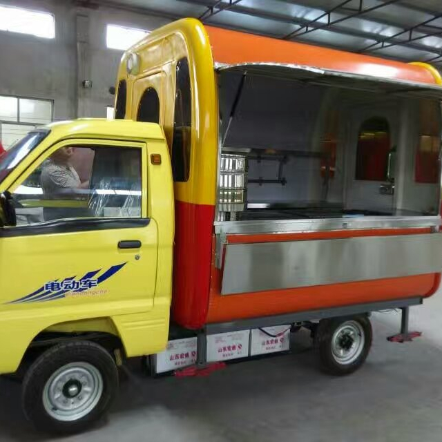 New design China mobile fast food cart with wheels manufacturer with cheap price