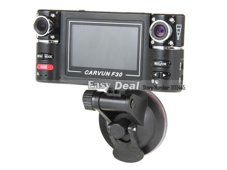 F30 с двумя объективами автомобильный видеорегистратор с 2.7 дюймов TFT LCD камеры корабля 8 ИК ночного видения 120 градусов широкий угол авто черный ящик