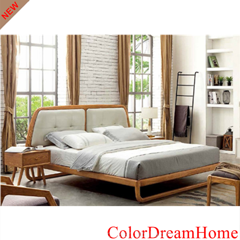 2018 Nordic Bedroom Furniture Solid Wood Beds With Bedside Tables For Double Beds Buy Double Beds Solid Wood Bed Beds Product On Alibaba Com