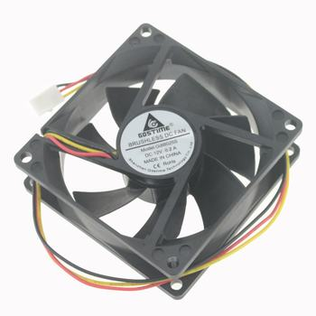 Gdstime GDA8025 DC 12V 80X80X25mm 80mm sleeve bearing PC Cooling Cooler Dc Case Fan for Computer Cooling