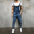 Men's biker jeans overalls pants slim long jeans jumpsuits male bib overall stretch Europe new style USA denim jeans ripped