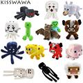 Minecraft Plush Toys 15pcs Enderman Wolf Sheep Squid Ghast Zombie Ocelot Stuffed Dolls Cartoon Minecraft Toys