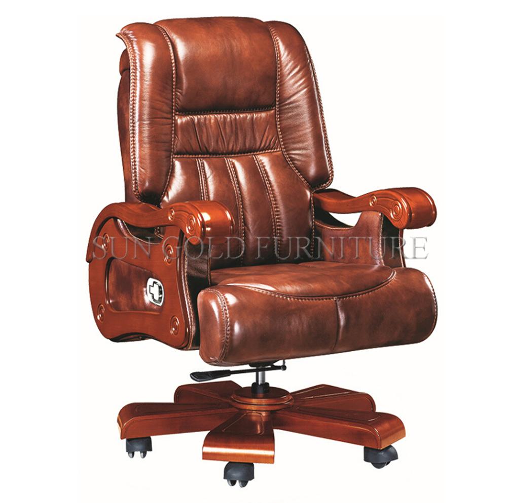 Brown Leather Swivel Big Boss Chair Ceo Desk Chair Luxury Office Furniture Sz Oce170 Buy Boss Chair Luxury Leather Chair Swivel Big Chair Product On Alibaba Com