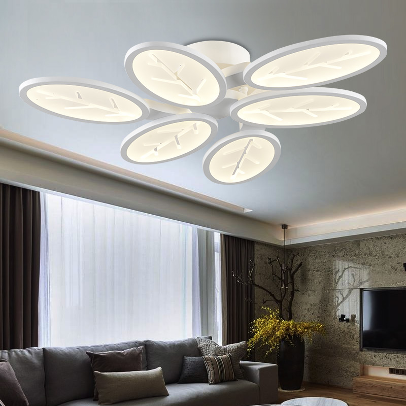 Dining Room Ceiling Light Fixtures: Surface Mounted Modern Led Ceiling Lights For Living Room