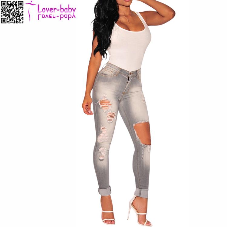 Pantalones Vaqueros Para Mujer Jeans Ajustados A La Moda De Alta Calidad Con Agujeros Rotos Color Gris L552 Buy Pantalones Vaqueros Para Mujer Pantalones De Mujer De Alta Calidad Pantalones Vaqueros De Moda Product On Alibaba Com