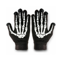 Phone Tablet Finger Tip Touch Screen Gloves Skeleton Smart Warm Winter Cotton Mitten For Men And Women Black WF202