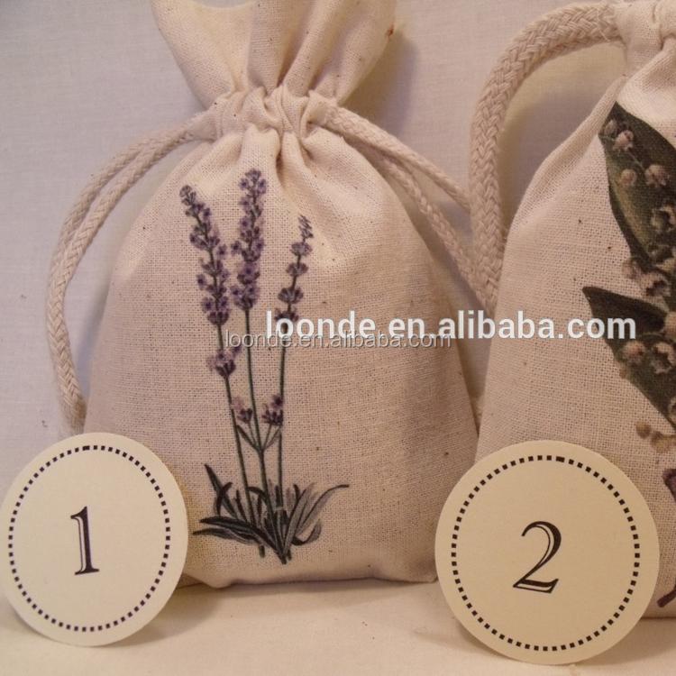 Винтажная Свадебная Сумка-саше из муслина с цветным принтом лаванды