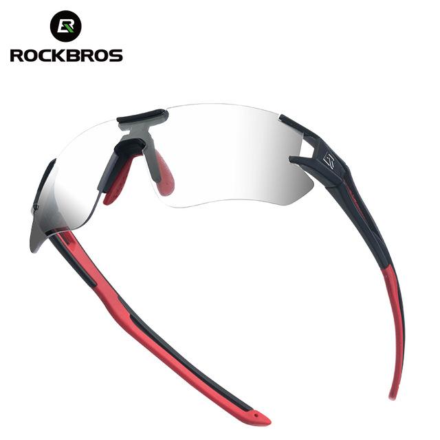 ROCKBROS photochromiques Cyclisme Lunettes Vélo Sports de plein air Lunettes de soleil Eyewear