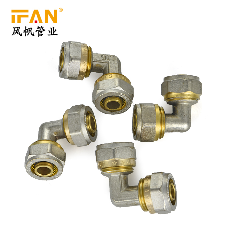 NEW Brass Elbow Female Double Head Fitting Pipe Connector 90Degree Elbow L18
