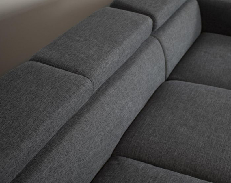 Contemporary style 3 seats European cheap sectional corner sofa comfortable fabric L-shaped sectional sofa