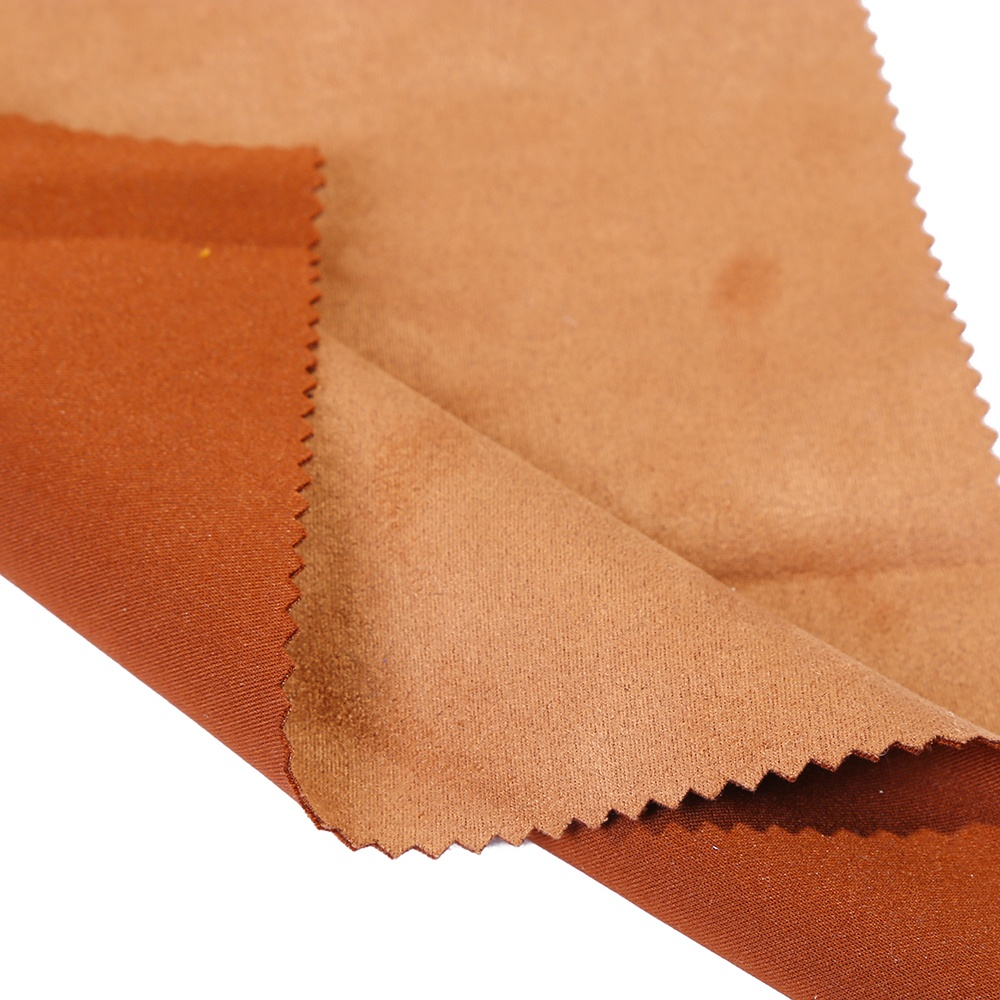 Wholesale shaoxing factory polyester spandex scuba suede fabric for jacket