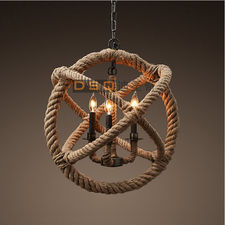Nautical Shade For Vintage String Lights: Aliexpress.com : Buy Rope 3 Light Handmade Rustic Nautical