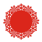 Laser cut wedding table decoration cheap felt handmade dining table mat Round Tablecloth