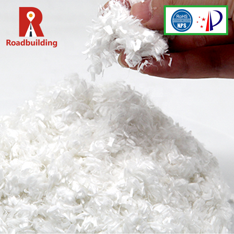 Asphalt road material high tenacity polyester cluster staple short cut fiber recycled