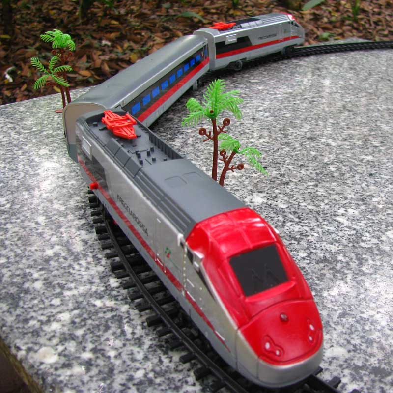Model trains 1:87 electric track train 17pcs/set High Speed Rail
