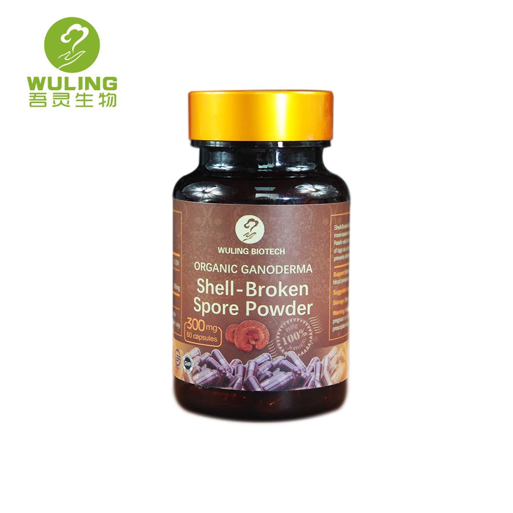 Immune Booster Natural Lingzhi Ganoderma Lucidum Reishi Shell-Broken Spore Powder Capsule Price