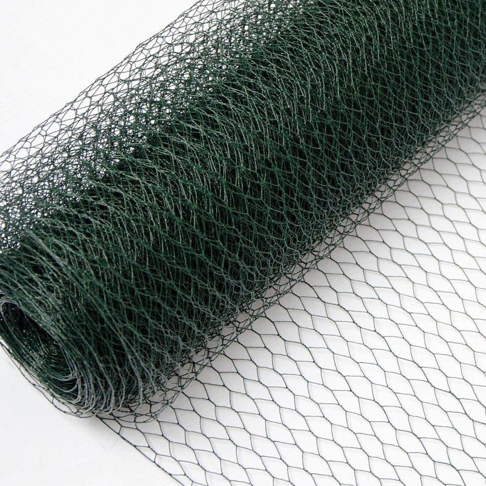 25//50mm Hexagonal Wire Mesh Rolls Galvanised Netting Garden Screen Fence Netting