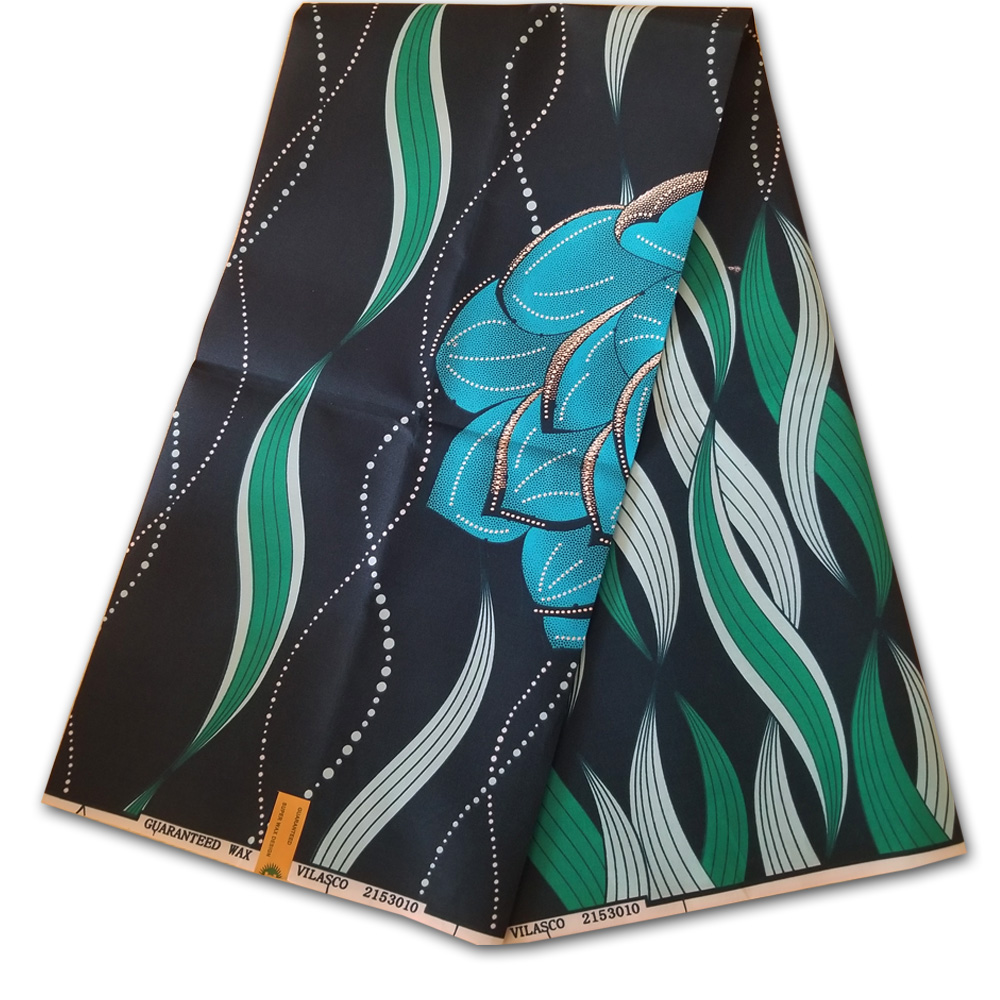 Polyester wax print fabric