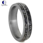 Wedding Band Titanium Ring Titaniumringstitanium Gentdes Jewelry Natural Deer Antler Wedding Band Custom Titanium Ring