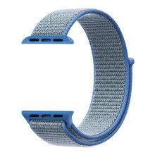 Спортивный тканый нейлоновый ремешок для apple watch, ремешок 44 мм, ремешок на запястье, тканевый нейлоновый ремешок iwatch series 5 4 3 2 1 38 мм 42 мм на лип...(Китай)