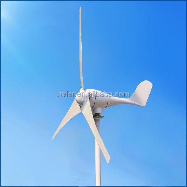Маленький ветрогенератор, 500 Вт, 24 В, ветрогенератор с CE