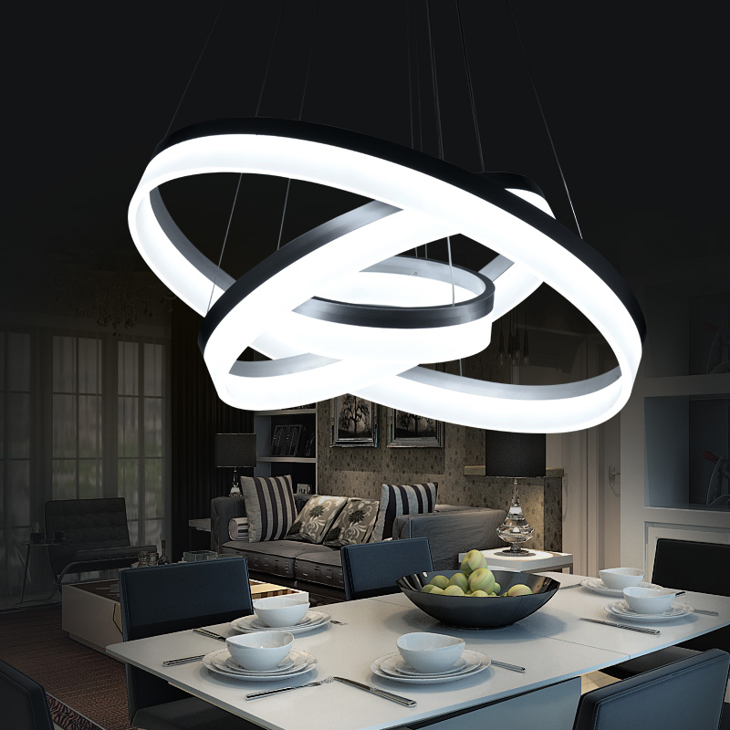 Modern Led Living Dining Room Pendant Lights Suspension: Aliexpress.com : Buy Hanging Modern LED Ring Circles