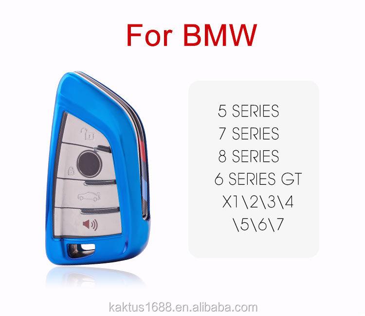 Чехол для автомобильного ключа BMW 5 7 series X1 2 3 4 5 6 6 series GT защитный чехол из ТПУ чехол для автомобильного ключа