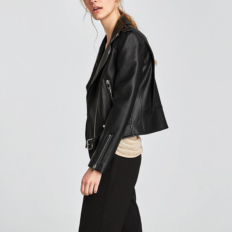 2021 осень Новое поступление пользовательские зимние куртки для улицы женские черные мотоциклетные женские Куртки из искусственной кожи