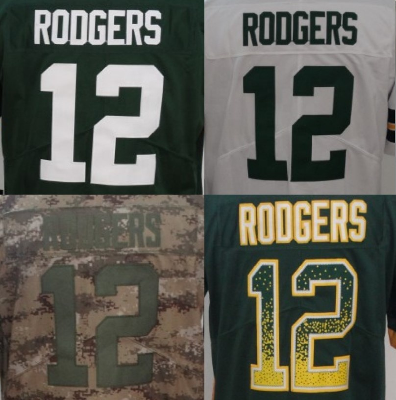 aaron rodgers stitched jersey