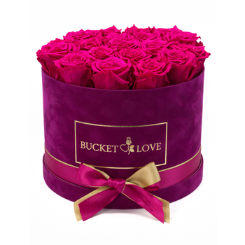 Luxury round shaped velvet gift box/suede rose box/velvet jewelry packaging boxes