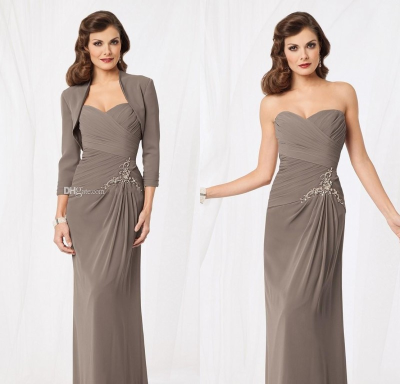 Stunning Mother Of The Bride Dresses: 2015 Stunning Chiffon Bride Of Mother Dress With Jacket
