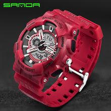 Мужские часы Топ бренд класса люкс SANDA цифровые часы G Стиль Военный Спорт шок часы мужские светодиодные кварцевые цифровые часы reloj hombre(Китай)