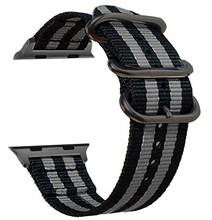 Ремешок Nato для Apple watch 4, 5, 44, 40, 42, 38 мм, нейлоновый Браслет для apple watch 4, 3, 2, 1(Китай)