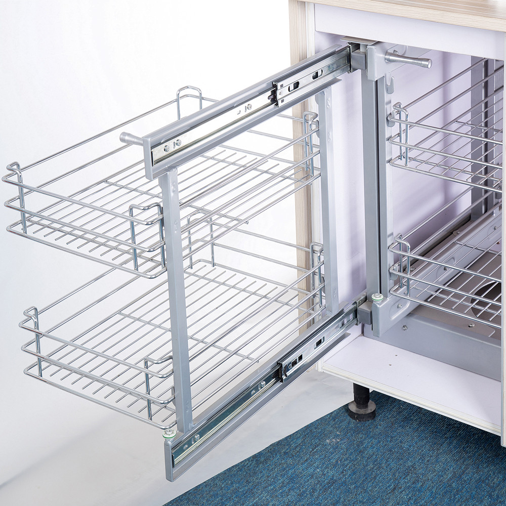 Kitchen Cabinet Magic Corner Pull Out Wire Basket   Buy Kitchen ...