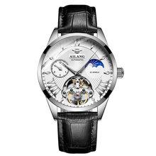 AILANG качественные мужские часы Tourbillon Мужские солнцезащитные/лунные фазный автоматический швейцарские дизельные часы Механ(Китай)
