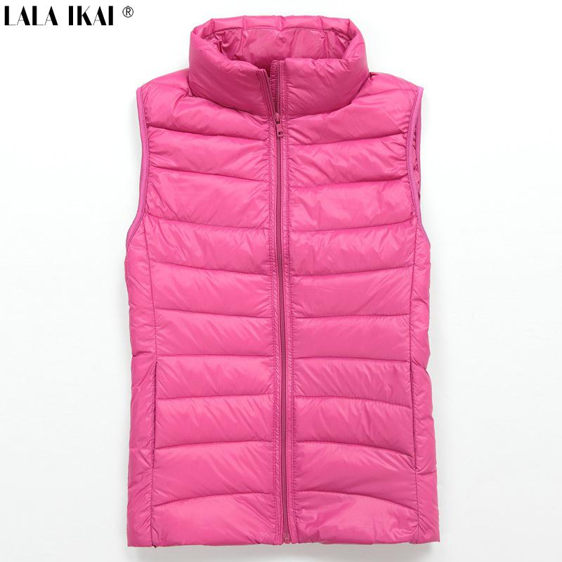 Женщин утка жилет без рукавов пальто на молнии 2XL верхняя одежда легкий вес пальто SWE0025-5