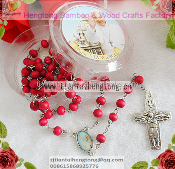 7mm Red Wooden Bead Rosary Rose Rosary Scent Rosary