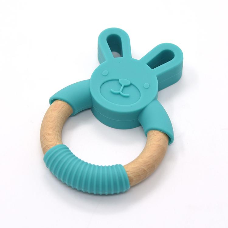 Детские товары деревянное Силиконовое кольцо Прорезыватель
