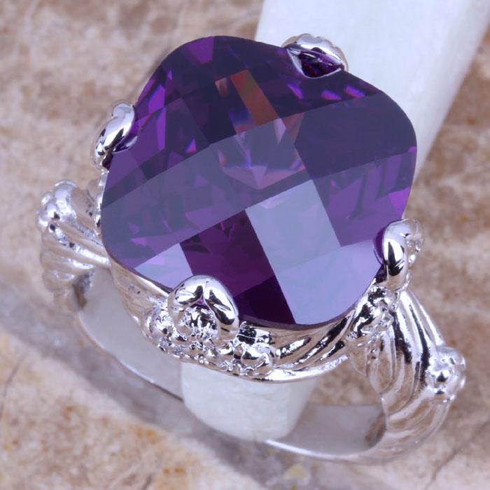Cleaning Rings: Aliexpress.com : Buy Clean Purple Amethyst 925 Sterling