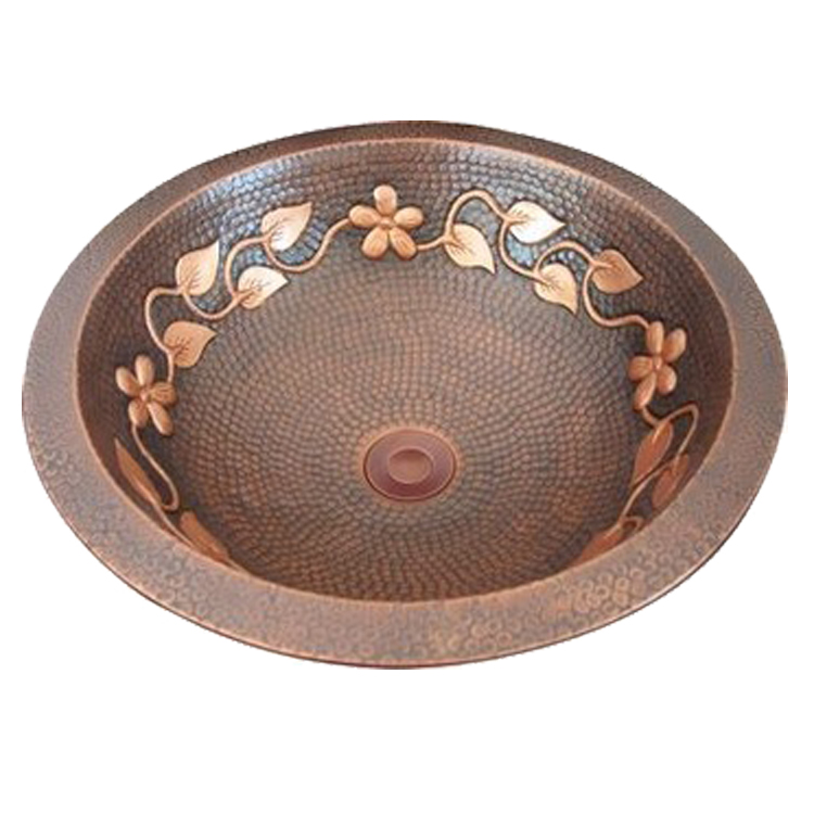 The Granite Hand Hammered Copper Bathroom Sink Washbasin Sink With Round Shape Buy Copper Bathroom Sink Washbasin Sink With Round Shape The Hand Hammered Bathroom Sink Product On Alibaba Com