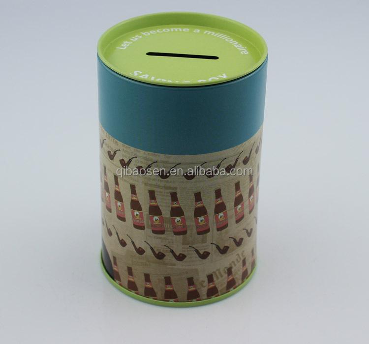 small cartoon money box/metal coin bank