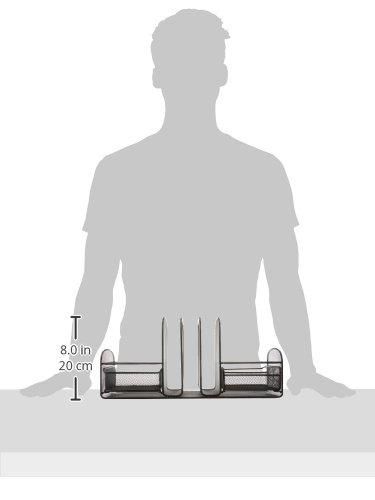 Прочный сталь сетки строительство черный косметическая пудра пальто отделка 3 сортировщик/2 ящика рабочего Организатор