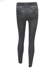 2016 Spring Autumn New Fashion Skinny Slim Thin High Elastic Waist Washed Jeans leggings Pencil Pants