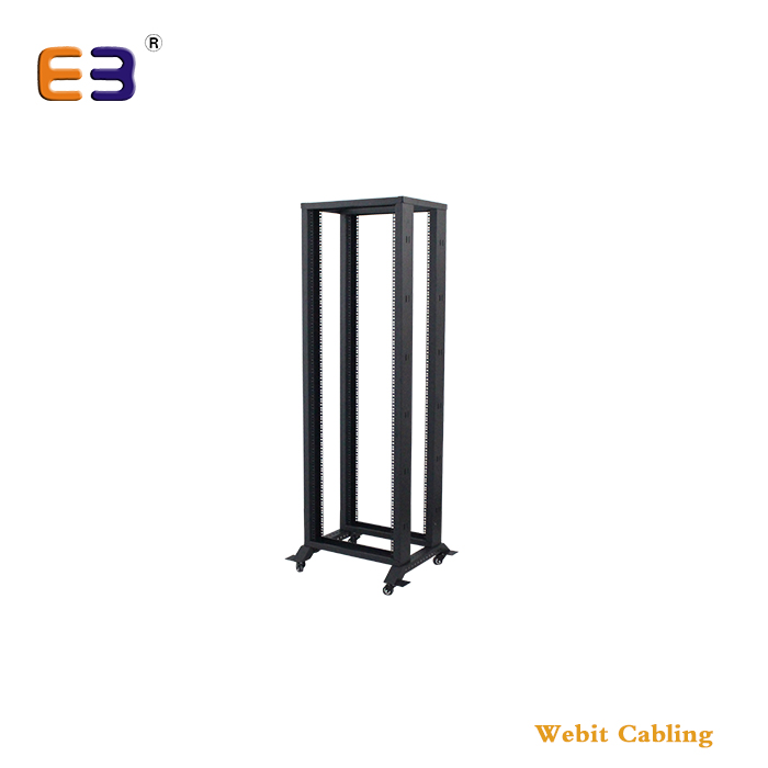 4 Posts Rack+Steel Material+Used For Network Telecommunication 19 inches Floor Standing 42U Open Rack
