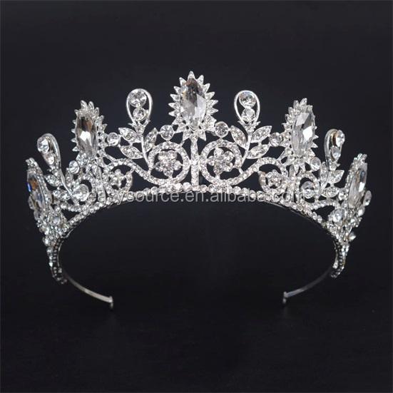 Cristal diadème perle bandeau couronne mariée mariage mariée princesse strass