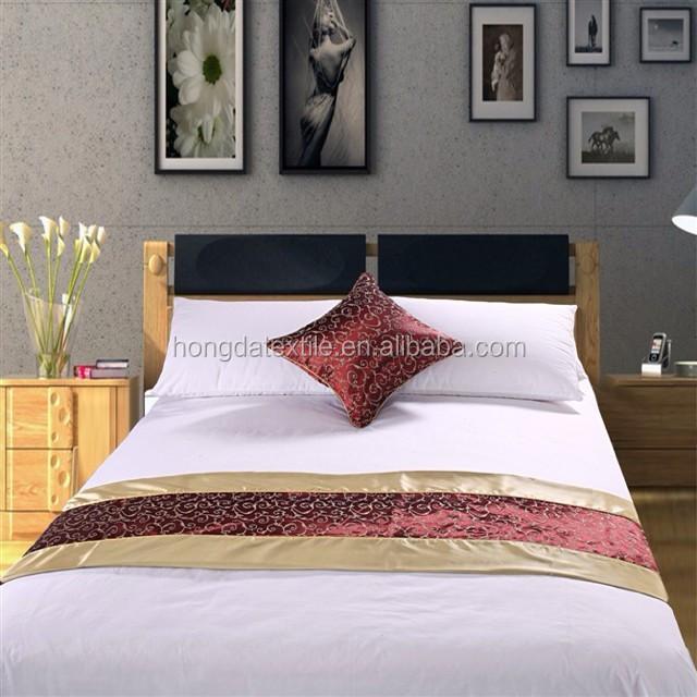 Жаккардовые бегунки для кровати отеля из 100% полиэстера, покрывало для кровати