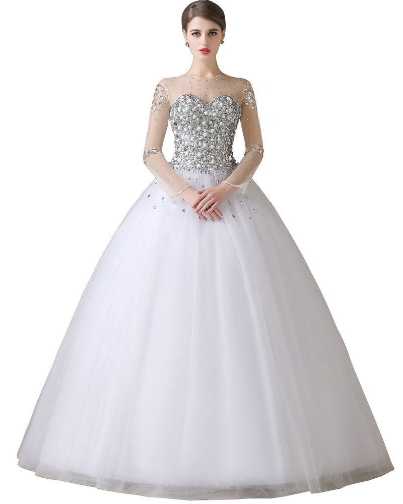 Aliexpress.com : Buy Ball Gown Wedding Dress With Sleeves