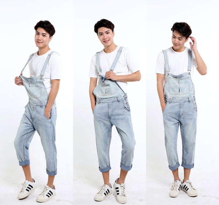 86ce94f67b3dd 2019 Wholesale Plus Size S 5XL Mens Denim Overalls Dark Washed ...
